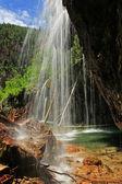 Hanging lake waterfall, Glenwood Canyon, Colorado — Stok fotoğraf