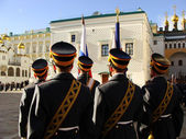 Changing of the Guards Ceremony, Moscow Kremlin Complex, Russia — Stock Photo