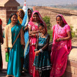 Indiwomen standing at Mehrangarh Fort, Jodhpur, India — Stock Photo #40121549