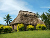 Maison traditionnelle de navala village, viti levu, Fidji — Photo