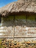 Detail of traditional house of Navala village, Viti Levu, Fiji — Stock Photo