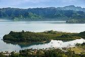 Savusavu marina och nawi holme, ön vanua levu, fiji — Stockfoto