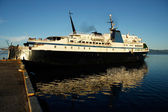 Großes schiff am hafen von savusavu, insel vanua levu, fidschi — Stockfoto