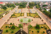 View of Vientiane from Victory Gate Patuxai, Laos — ストック写真