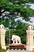 Decorative statue of elephant, Vientiane, Laos — Stock Photo