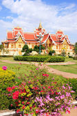 Temple at Pha That Luang complex, Vientiane, Laos — ストック写真