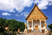 Temple at Pha That Luang complex, Vientiane, Laos — Stock Photo