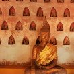 Buddha statues in Wat Si Saket, Vientiane, Laos — Stock Photo #42825655