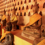 Buddha statues in Wat Si Saket, Vientiane, Laos — Stock Photo #42825975