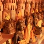 Buddha statues in Wat Si Saket, Vientiane, Laos — Stock Photo #42826335
