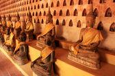 Buddha statues in Wat Si Saket, Vientiane, Laos — Stock Photo