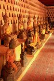 Buddha statues in Wat Si Saket, Vientiane, Laos — Foto de Stock