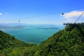 Sky Bridge cable car, Langkawi island, Malaysia — Stock Photo