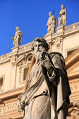 Satue of Saint Peter, Maderno facade, Saint Peters Basilica, Vat — Stock Photo
