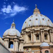 Saint Peters Basilica dome, Vatican City, Rome — Stock Photo