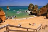 Ponta de Piedade beach in Lagos, Algarve region, Portugal — Stock Photo