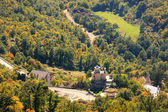 Panorama of Bjelopavlici plain from Ostrog Monastery, Montenegro — Stock Photo