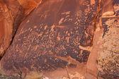 Pétroglyphes Indiens, Journal rock monument historique de l'État, utah — Photo