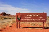 Canyonlands National Park sign, Utah, USA — Stock Photo