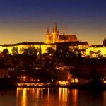 The Prague Castle at night — Stock Photo