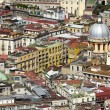 Panorama of Naples from the Saint Elmo Castle - Stock Photo