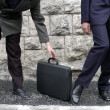 Detail of 2 businessmen meeting outside office — Stock Photo #12241263