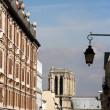 Paris center, behind the Notre Dame — Stock Photo