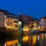 Opole city at night, Silezia, Poland — Stock Photo #12241383