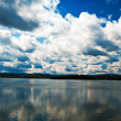 Dramatic clouds above the Solina lake, Poland — Stock Photo #12241392