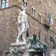 The Neptune fountain in Florence — Stock Photo