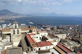 Panorama z neapolu od zamku saint elmo — Zdjęcie stockowe