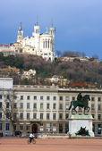在里昂的白莱果广场 — 图库照片