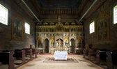 Old church interior near Sanok, Poland — Stock Photo