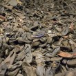 OSWIECIM, POLAND - OCTOBER 22: Boots of victims in Auschwitz II, a former Nazi extermination camp on October 22, 2012 in Oswiecim, Poland. It was the biggest nazi concentration camp in Europe. — Stock Photo