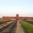 OSWIECIM, POLAND - OCTOBER 22: Auschwitz II, a former Nazi extermination camp on October 22, 2012 in Oswiecim, Poland. It was the biggest nazi concentration camp in Europe. - Stock Photo