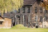 The entrance of the Auschwitz camp I in Oswiecim, Poland — Stock Photo