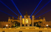 The National Palace in Barcelona at night — Stock Photo