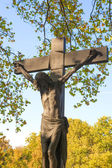 Holy cross in the cemetery, Budapest — Stock Photo