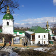 View of Kiev Pechersk Lavra Orthodox Monastery, Ukraine — Stock Photo