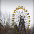 Ferris wheel in Ghost Town — Stock Photo