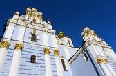 Mihaylovskiy cathedral of Mihaylovskiy monastery in town Kiev, Ukraine — Stock Photo