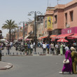Crowdy area in the Moroccan city — Stock Photo