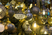 Background of Moroccan lamps — Stock Photo