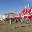 Visitors at  the final day of Sziget Festival 2013, Budapest. 11-08-2013 — Stock Photo