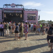 Stage at the final day of Sziget Festival 2013, Budapest. 11-08-2013 — Stock Photo