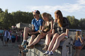 Visitors at the final day of Sziget Festival 2013, Budapest. 11-08-2013 — Stock fotografie