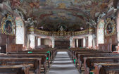 Baroque interior of the Aula Leopoldium in Worlaw University — Stock Photo
