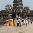 Unidentified tourists visit Angkor Wat, Cambodia — Stock Photo #40293717
