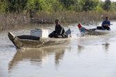 Barco en la orilla del río mekong, vietnam — Foto de Stock