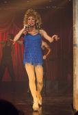 Transsexual singer — Stock Photo